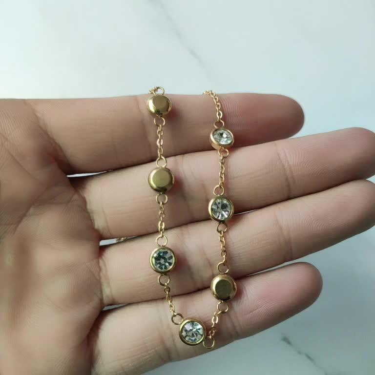Mecylife Thời Trang Zircon Tuyên Bố Necklace Phụ Nữ Vàng Choker Vòng Cổ