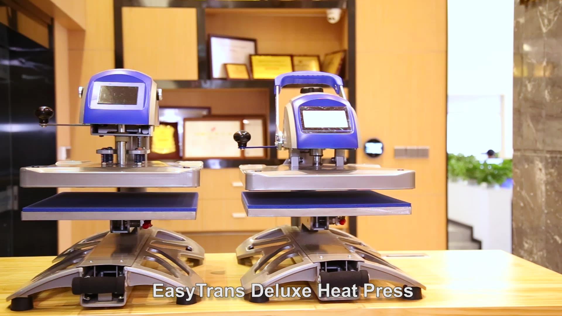 Máquina de impressão de transferência de calor, camiseta automática elétrica, 16x20, balanço, máquina de imprensa de calor 40x, venda imperdível 50 auto aberto