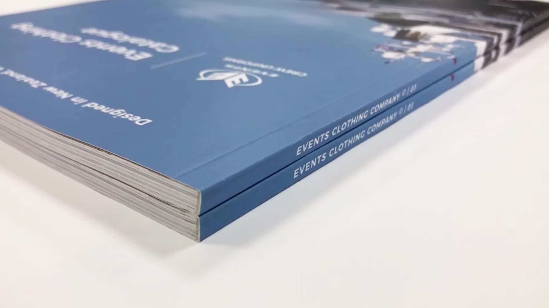 Impressão do catálogo emperramento perfeito barato personalizado de alta qualidade