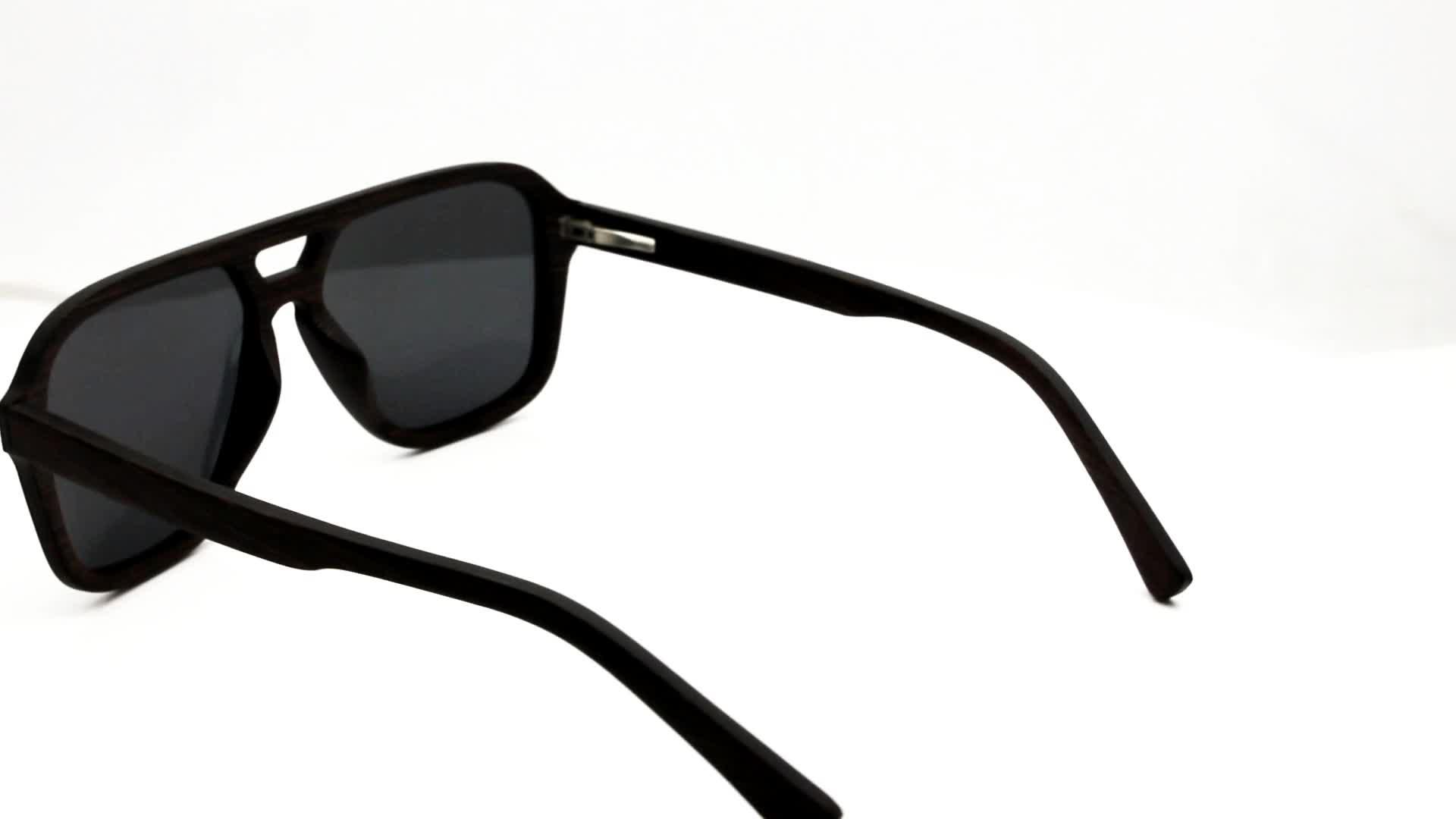 Polarisierte Sonnenbrille Mode Erwachsene Sonnenbrille Custom Design Marke Holz Sonnenbrille Display