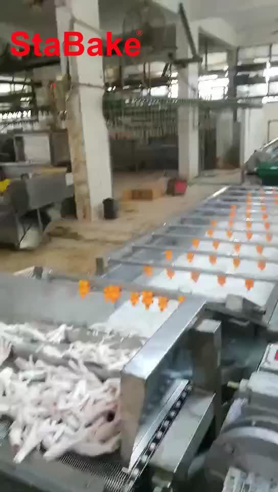 Automatische huhn füße peeling verarbeitung maschine