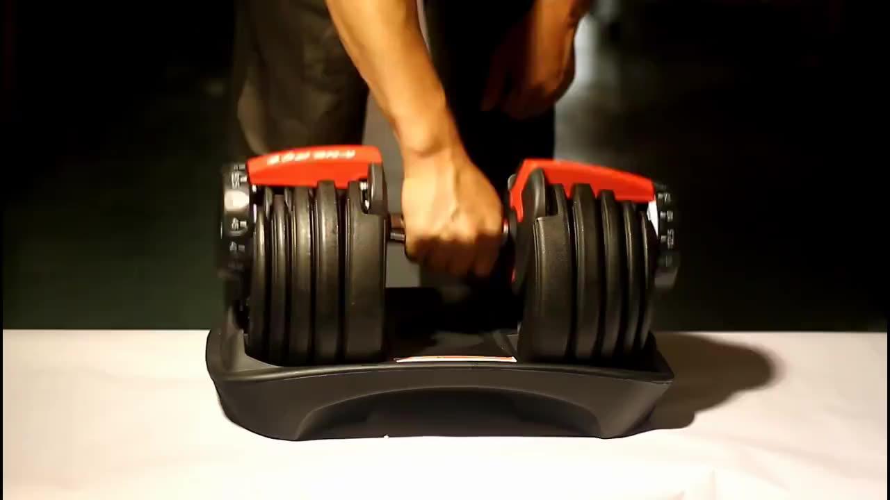 Trasporto veloce Set di Manubri 40kg 90lbs in Libbre muti-funzione regolabile d-umbells manubri manubri regolabili set