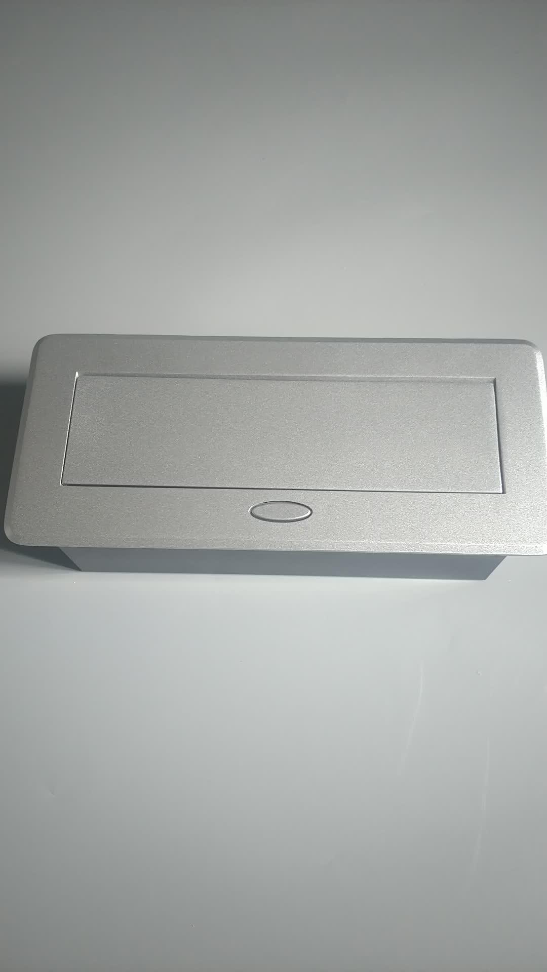 Pre-dây phong cách ANH/Người Anh điện văn phòng bàn mounted pop up máy tính để bàn ổ cắm với usb