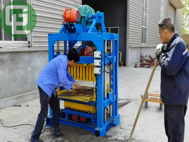 Qt40 2 Manual Cement Concrete Block Moulding Machine Price