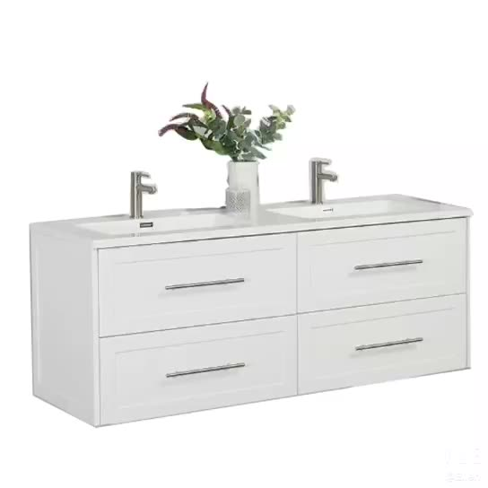 Wall hung white bathroom vanity with cheap price