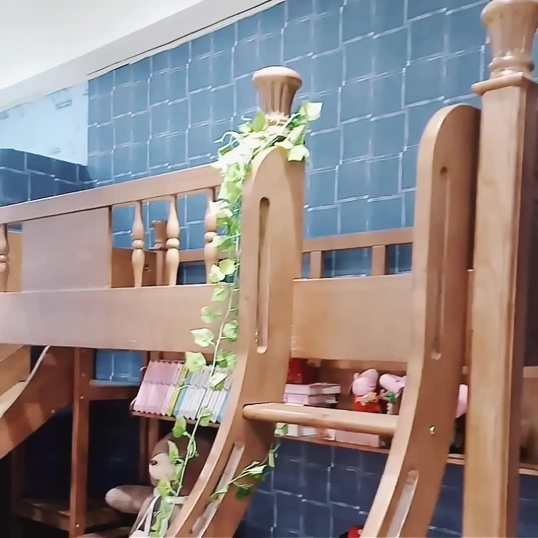 Letto A Castello con Scivolo Scale In Legno massello Cassetto per Mobili Per Bambini Camera Da Letto Per Bambini Letto A Castello