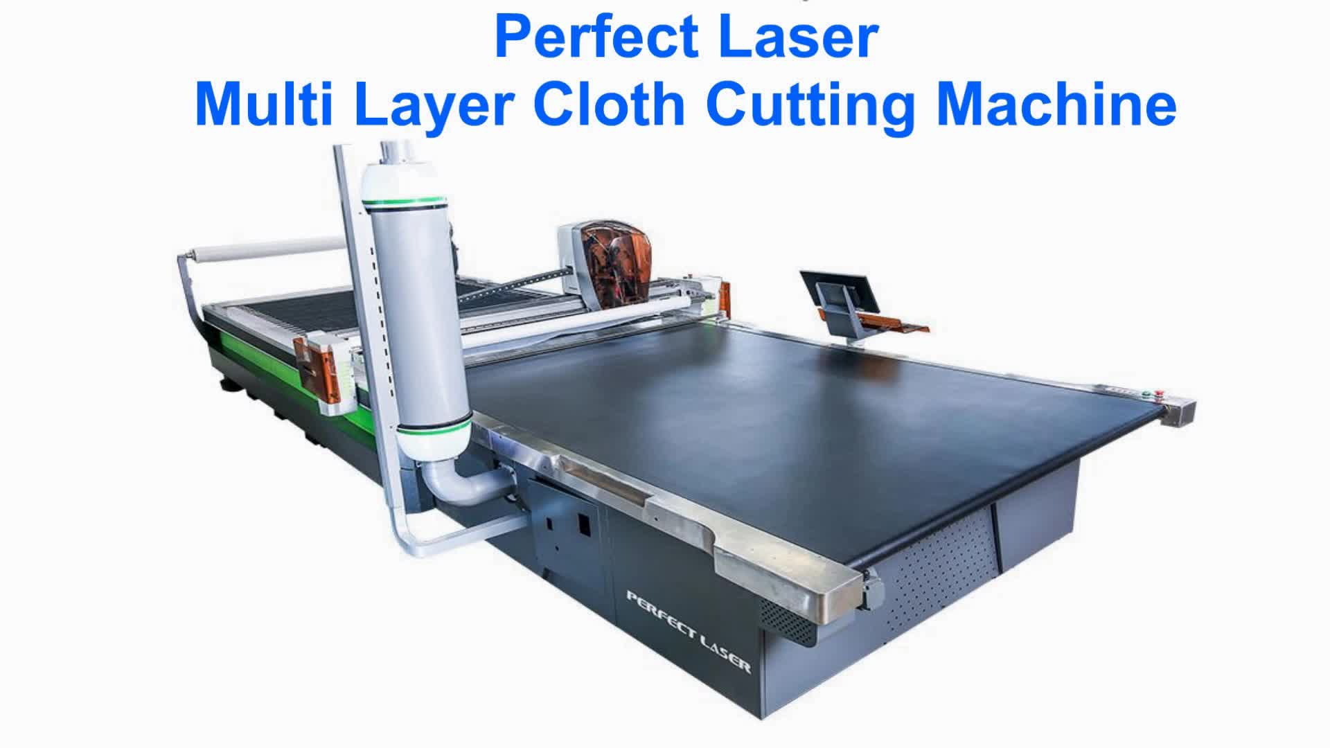 Fabric Oscillating Knife Cutting Machine For Multi Layers ...
