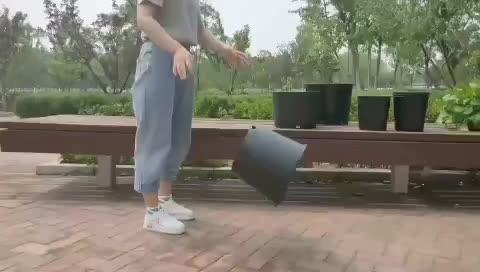 Factory Supply Outdoor Garden Round Black 1/2/3/5/6/7/10/15 Gallon Plastic Flower Plant Pots