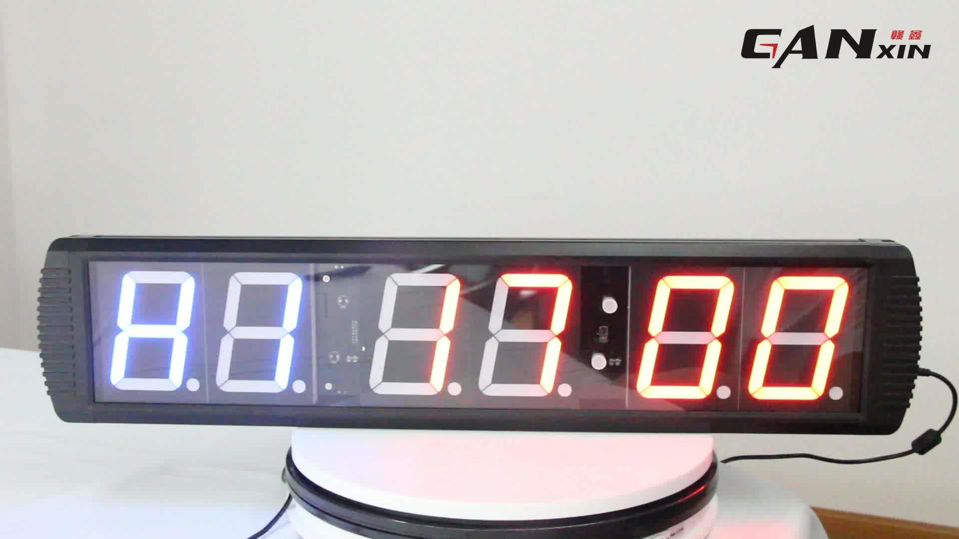 [Ganxin] 4'' 6 Digits Alibaba Indoor Led Gps Wall Clock