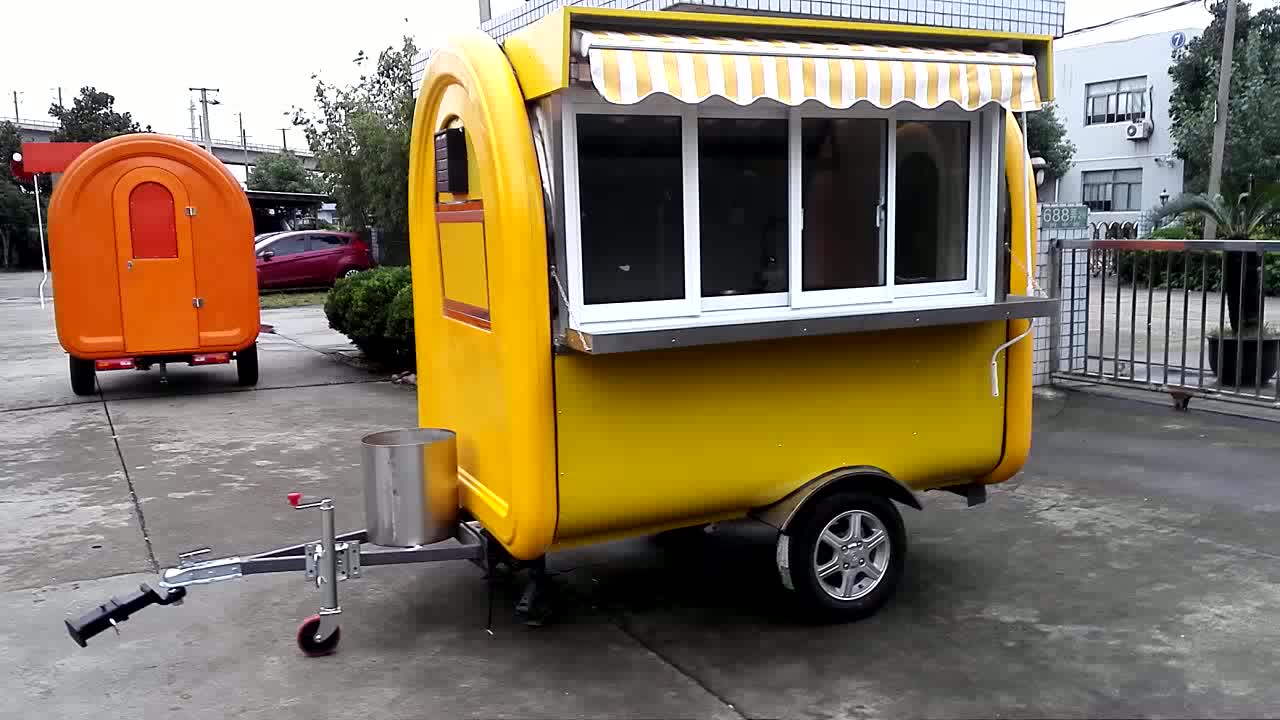 Factory Direct Sale Customized Fast Food Truck Made In China/ Food Cart / Ice Cream Cart For Sale