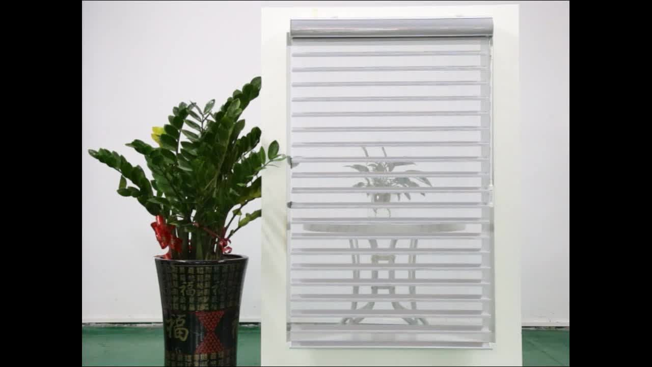 electric aluminium motorized  vertical wand control Shangri-la Blinds