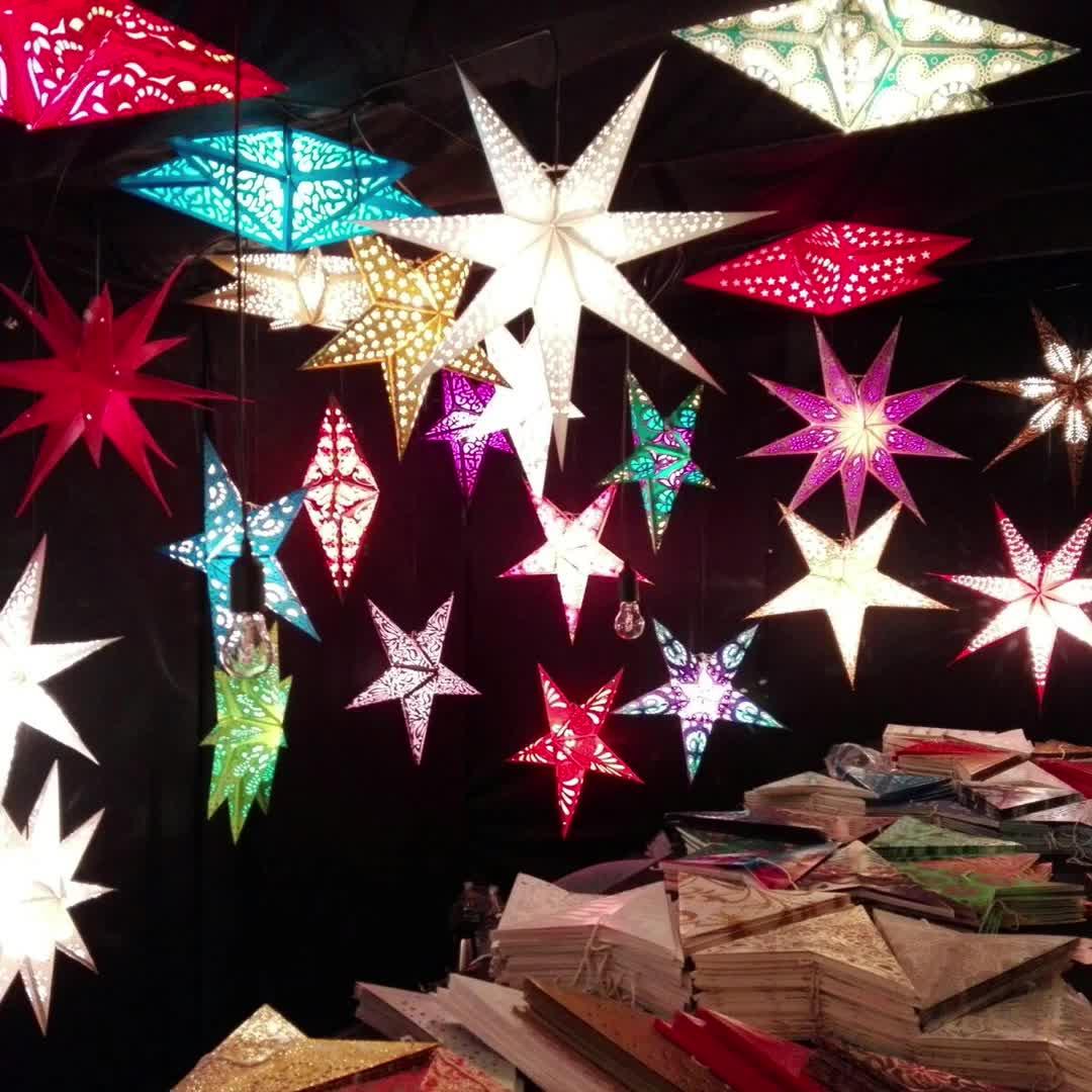 Weihnachten dekoration hohl Pentagramm dekoration Halloween öffnung bar schmuck shop handy shop kleid