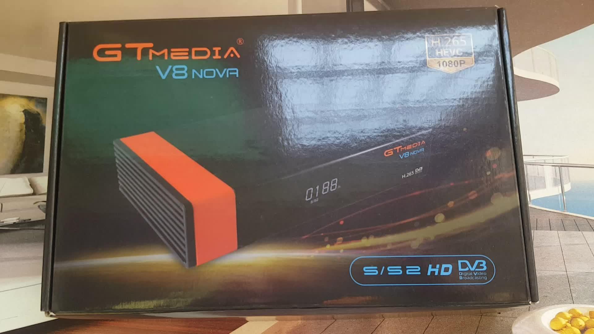 Original GTMEDIA V8 Nova H.265 Satellite Receiver DVB-S2 Free to Air Full HD digital TV Box Support PowerVu freesat V8 super GTM