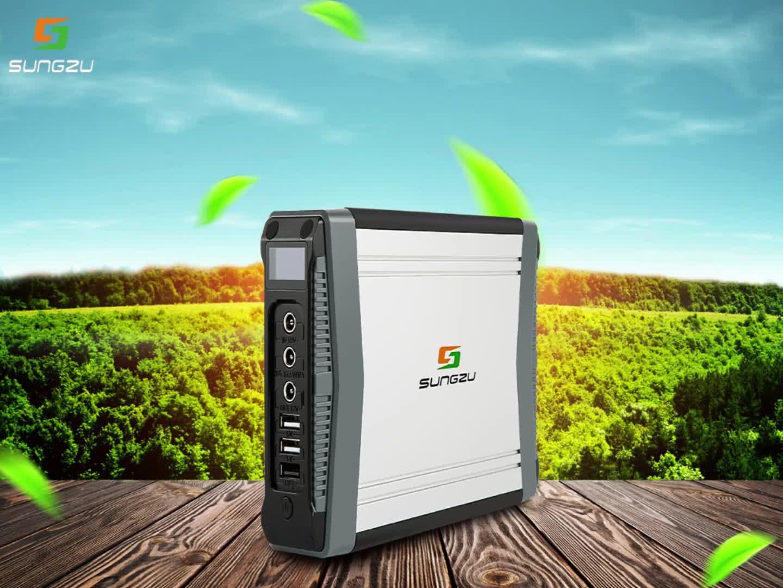 Home Appliance Small Solar Power Generator 200W Power Box with 40W/60W Aluminium Frame Solar Panel