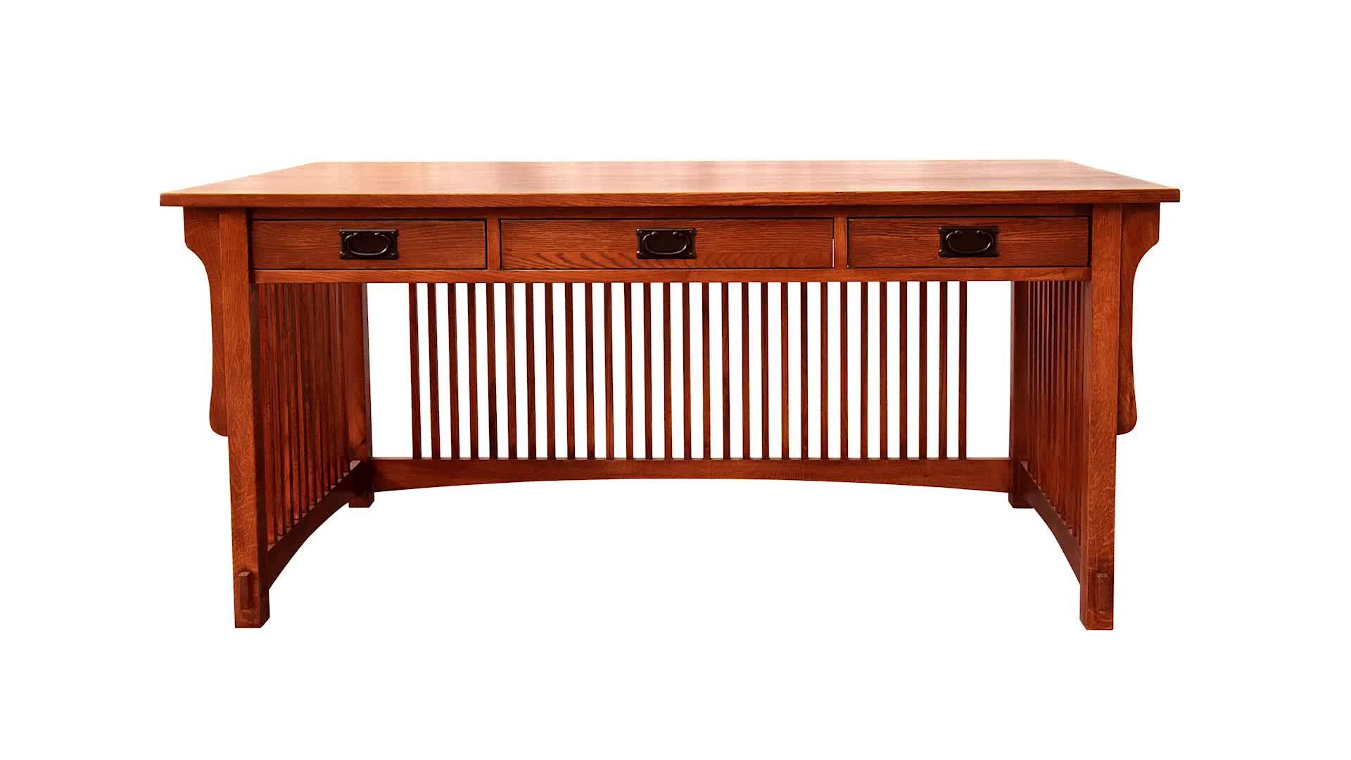 Kantoormeubilair china goedkope meubels unieke wit eiken bureau met 3 laden