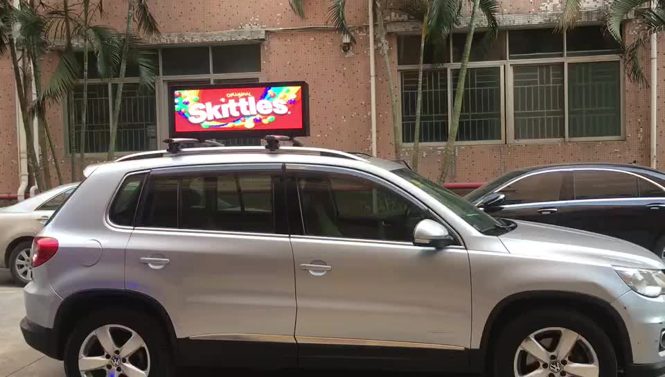Double Side Taxi Top  LED Display Waterproof Outdoor SMD P3.33 led taxi top advertising