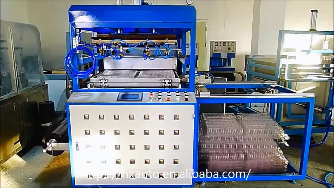 Vacuum forming machine with Germany heating bricks used plastics process equipment