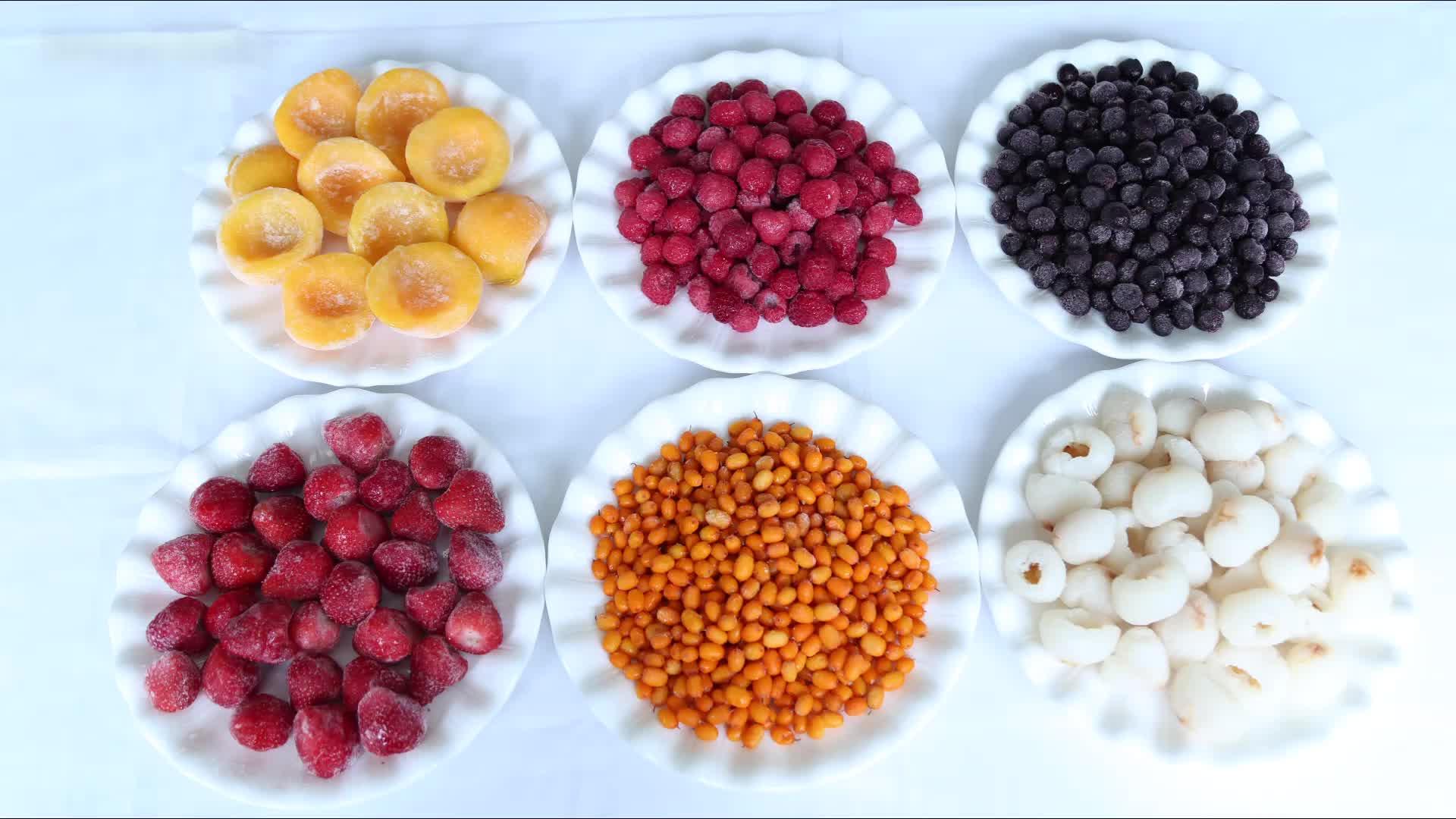 Top Kwaliteit soorten Chinese IQF bevroren vruchten