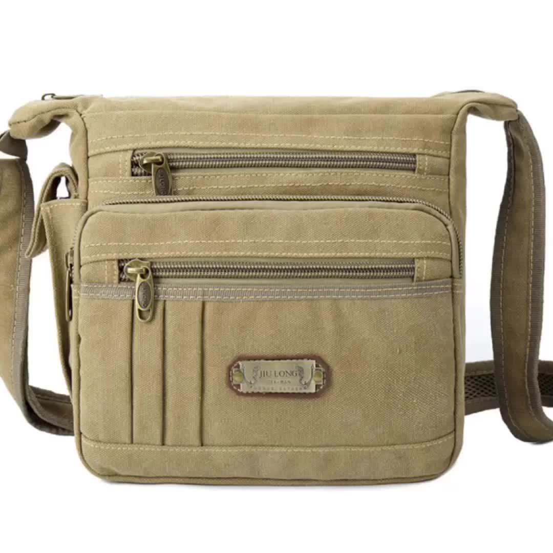 Custom Sport Fashion Style Canvas Messenger Bag For Men Crossbody Shoulder Bag Men For Outdoor