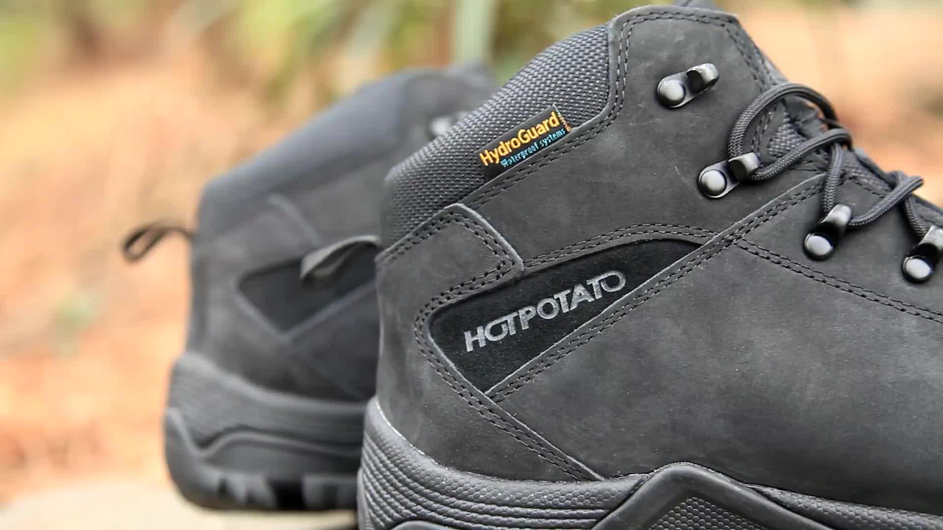 Botas de caminhada de couro premium à prova dbest água mais vendidos botas de caminhada duráveis para caminhada unissex