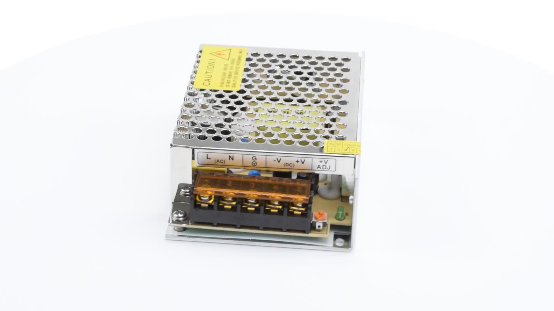 60 W chất lượng cao 12 v cung cấp điện cho cp cộng với cctv camera 100-240 v 110 v điện cung cấp nhôm trường hợp