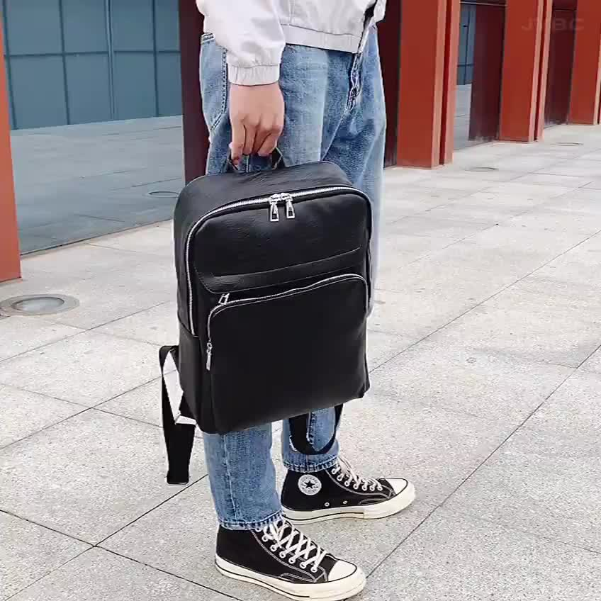 2020 high quality PU material business casual school backpack laptop for men