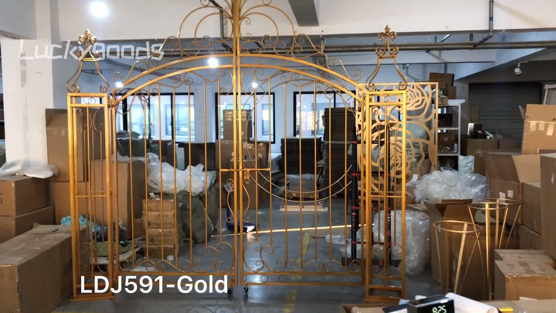 LDJ591 Popular selling iron gold wedding metal gate