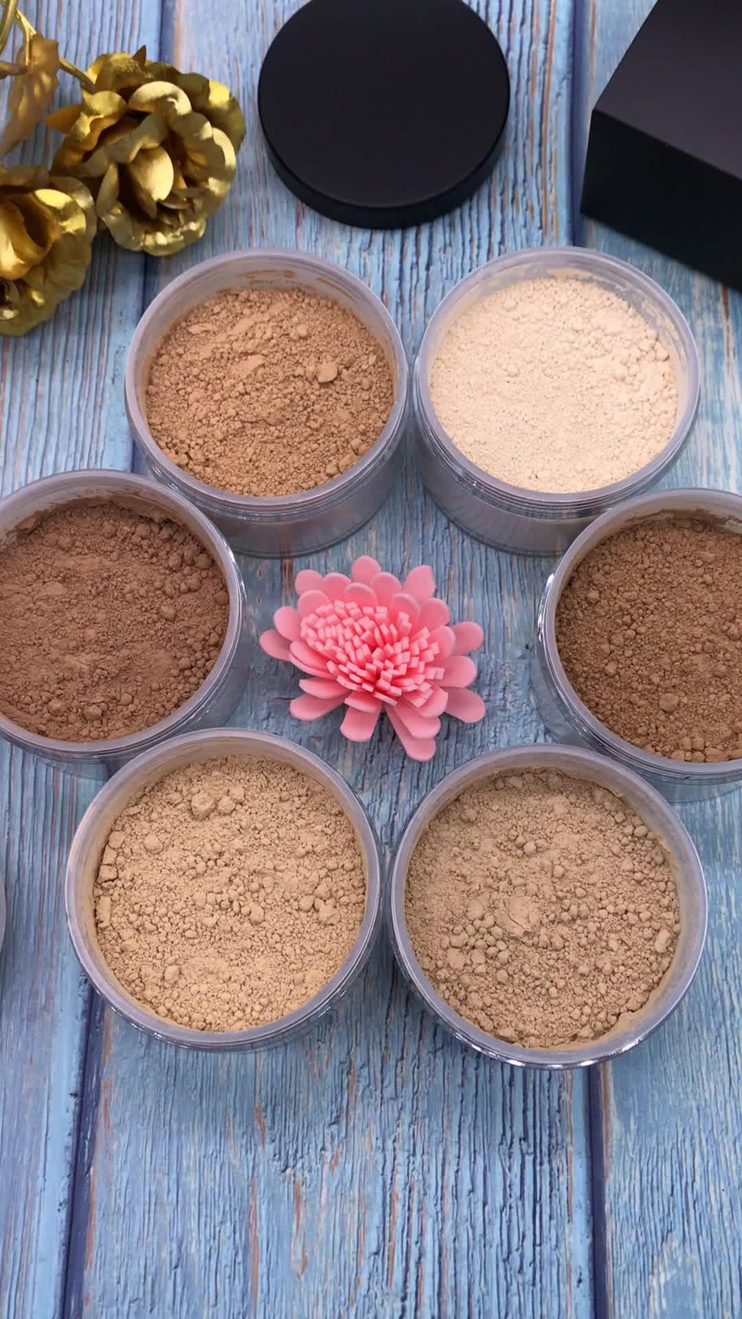 Wasserdichte Foundation Gesicht Basis Make-Up Lose Pulver Professionelle Private Label Öl Control Einstellung Mineral Pulver