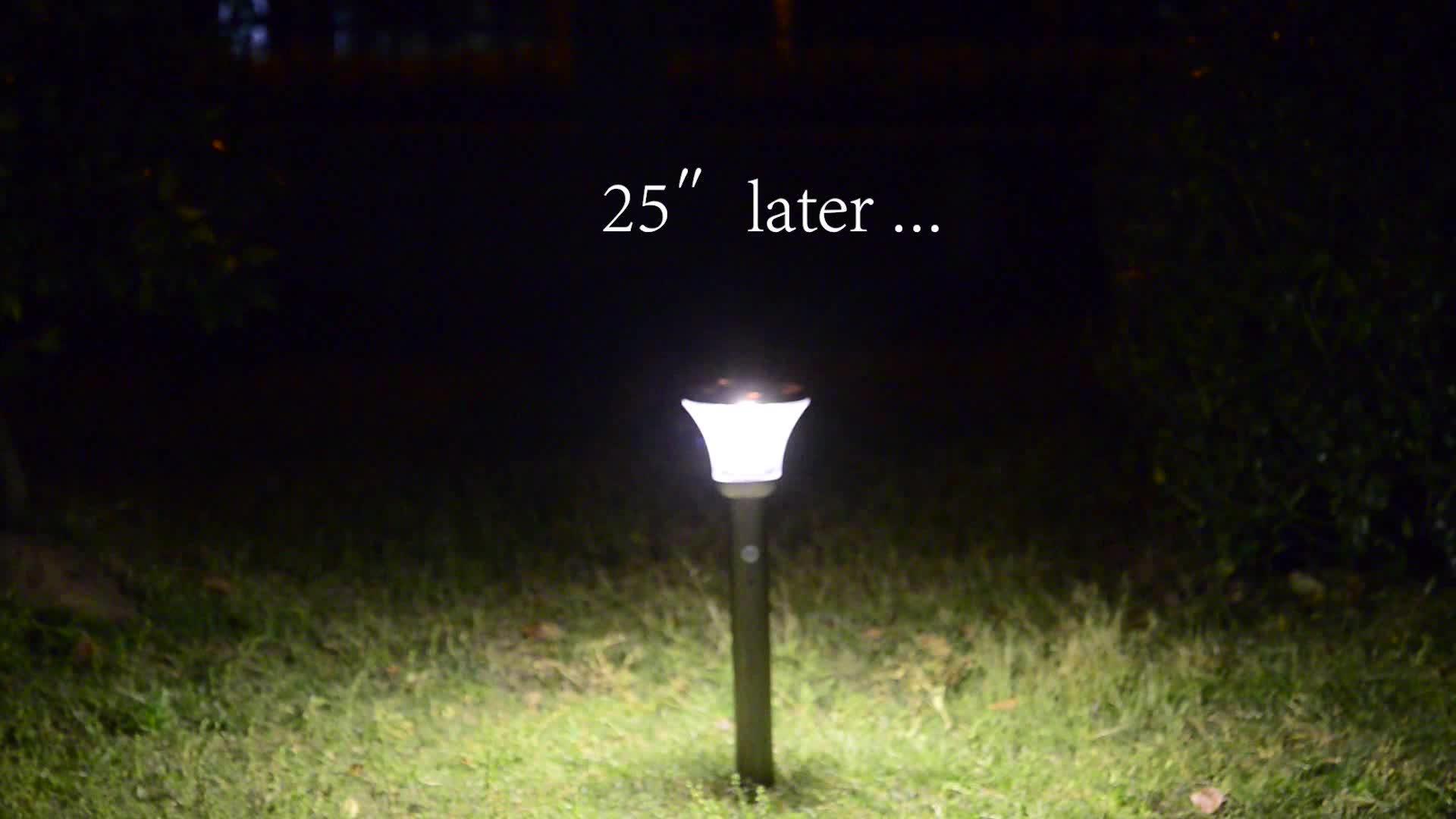 VERTAK 4 LED 50 Lumens Aço Inoxidável Fixado Na Parede Solar Cerca Luz para Pátio e Jardim