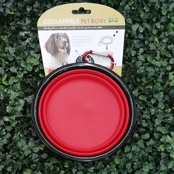 RTS Collapsible Portable Silicone Dog Bowl