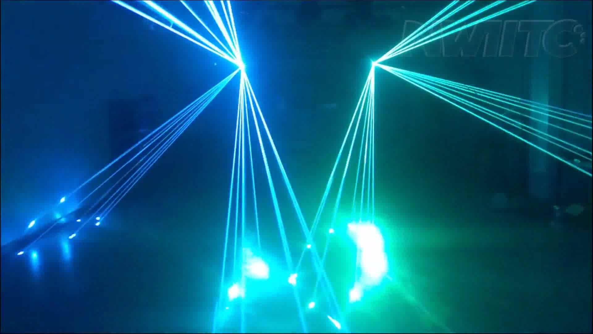 Factory price disco dj stage 5w rgb multi color beam animation laser light