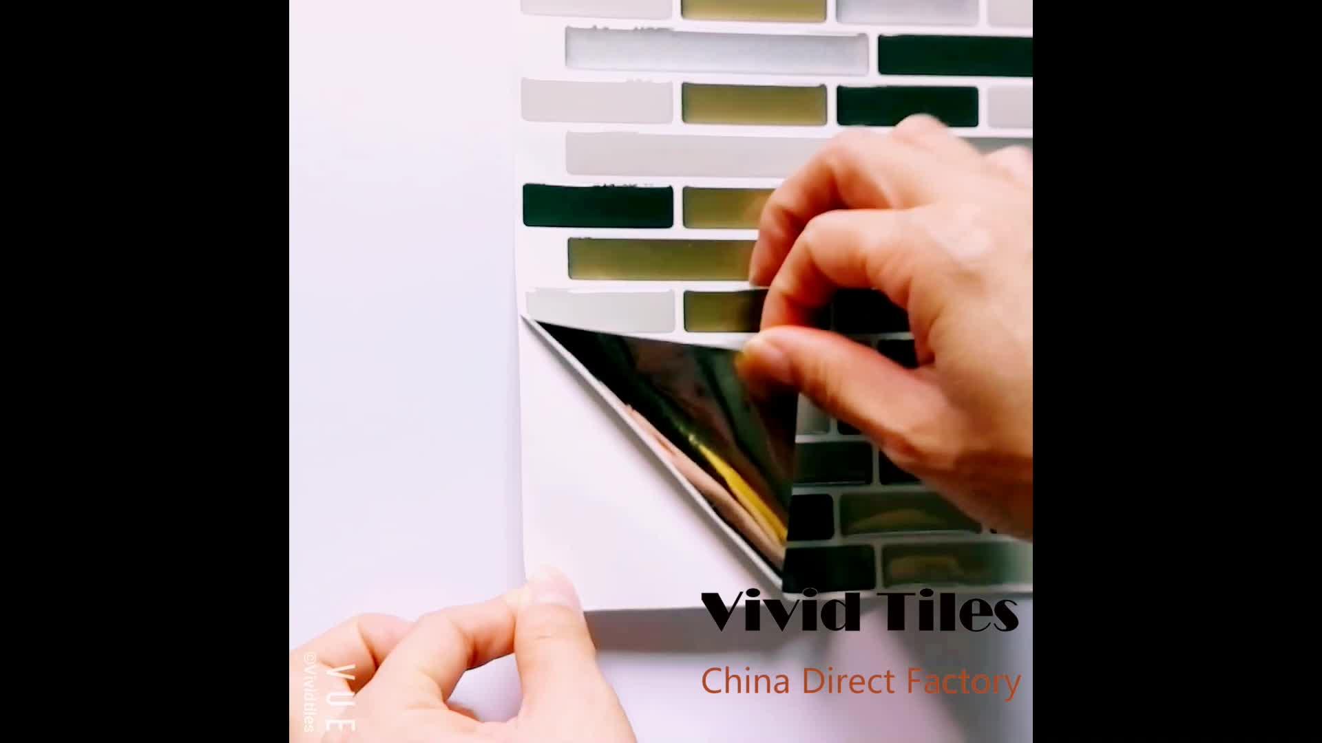 Eco-friendly Wall Sticker Home Decor Kitchen Tiles