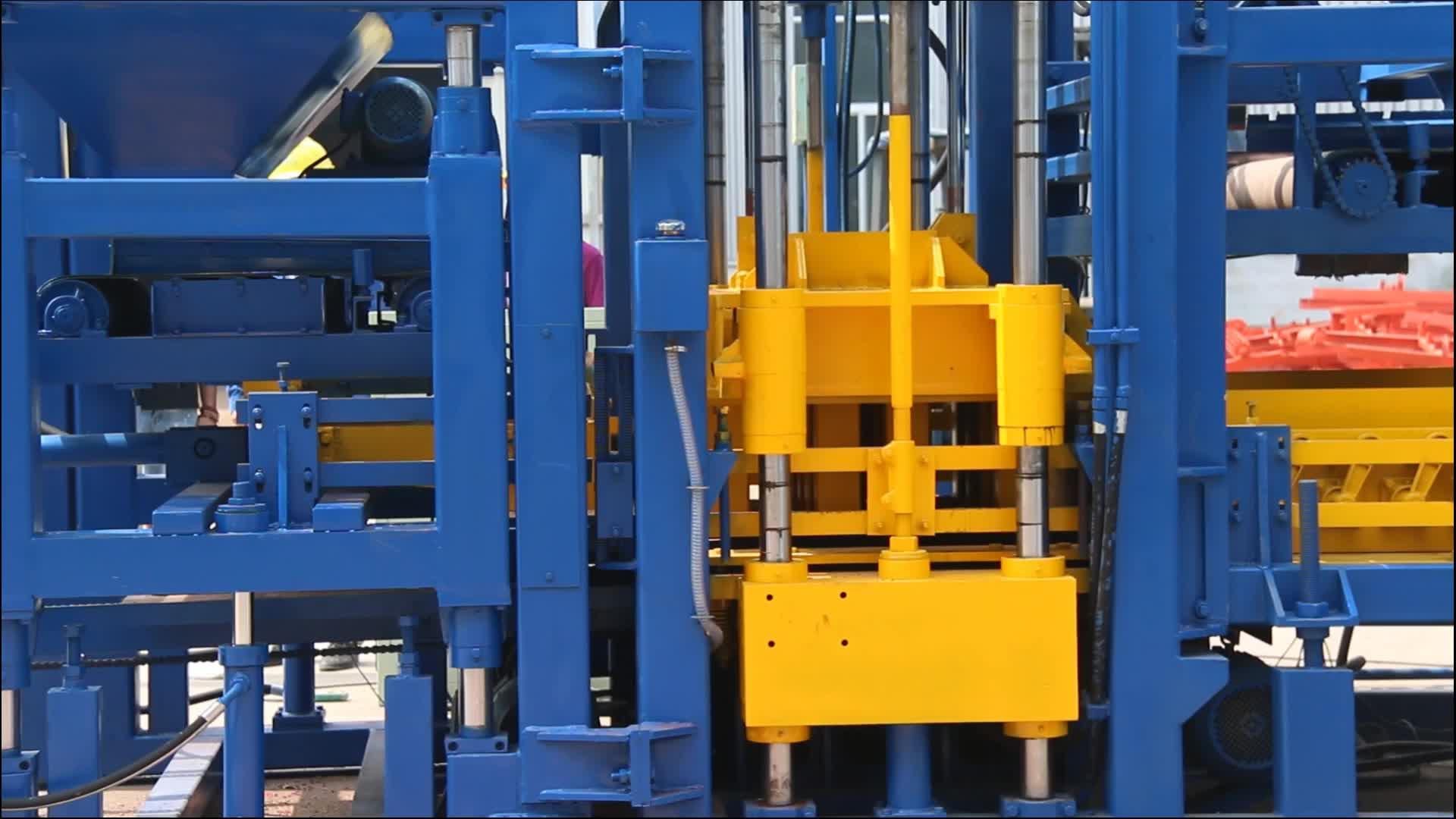 T9-15 yüksek kaliteli otomatik çimento beton içi boş katı kilitli finişer blok yapma makinesi fiyat Jamaika