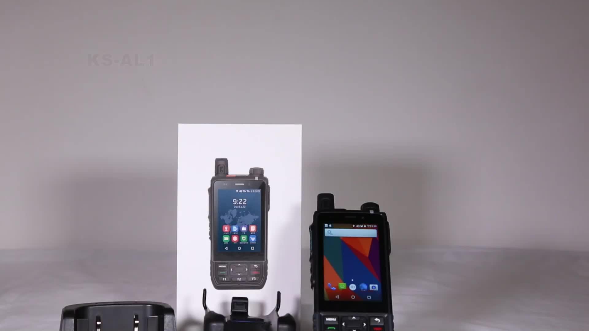 KSUN KSXAL1 Zello Walkie Talkie 4G WCDMA, CDMA, GSM Visualization Intercom GPS Positioning Sim Card Mobile Phone Two Way Radio