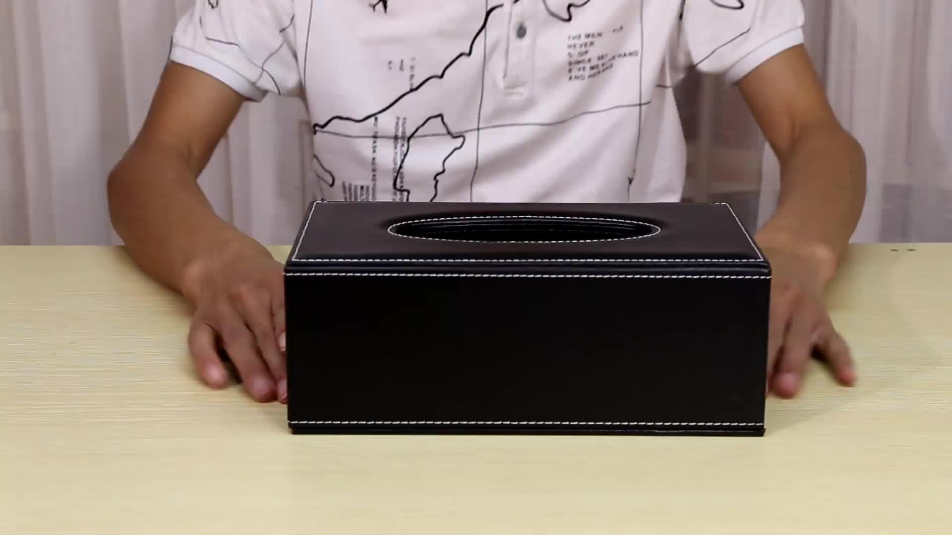 Nhà đa chức năng lưu trữ nhân tạo PU da hộp giấy bìa