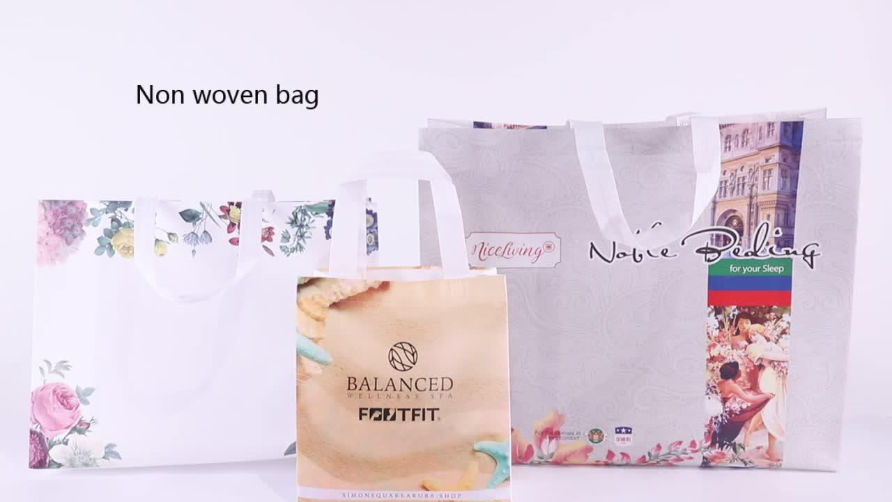 Изготовленная на заказ биоразлагаемая Нетканая дешевая сумка tnt/складная хозяйственная многоразовая эко большая Нетканая сумка для хранения продуктов