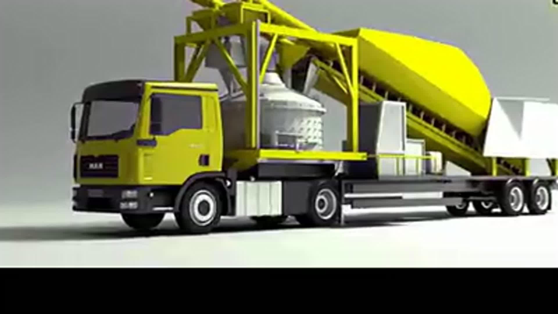 Dry Mix Mortar Concrete Batching Plant twith Belt Conveyor