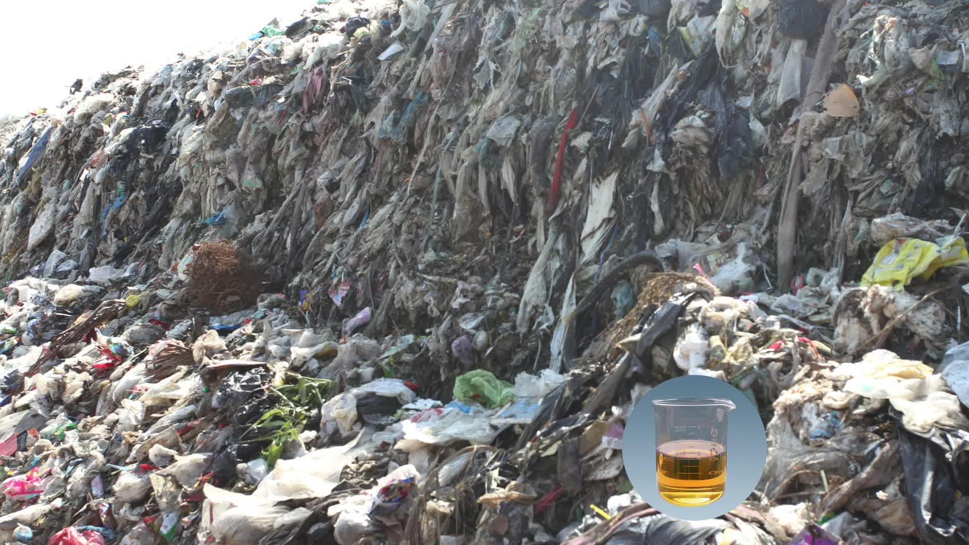 Desechos de plástico de combustible máquina de procesamiento de aceite de conocer estándar de Europa