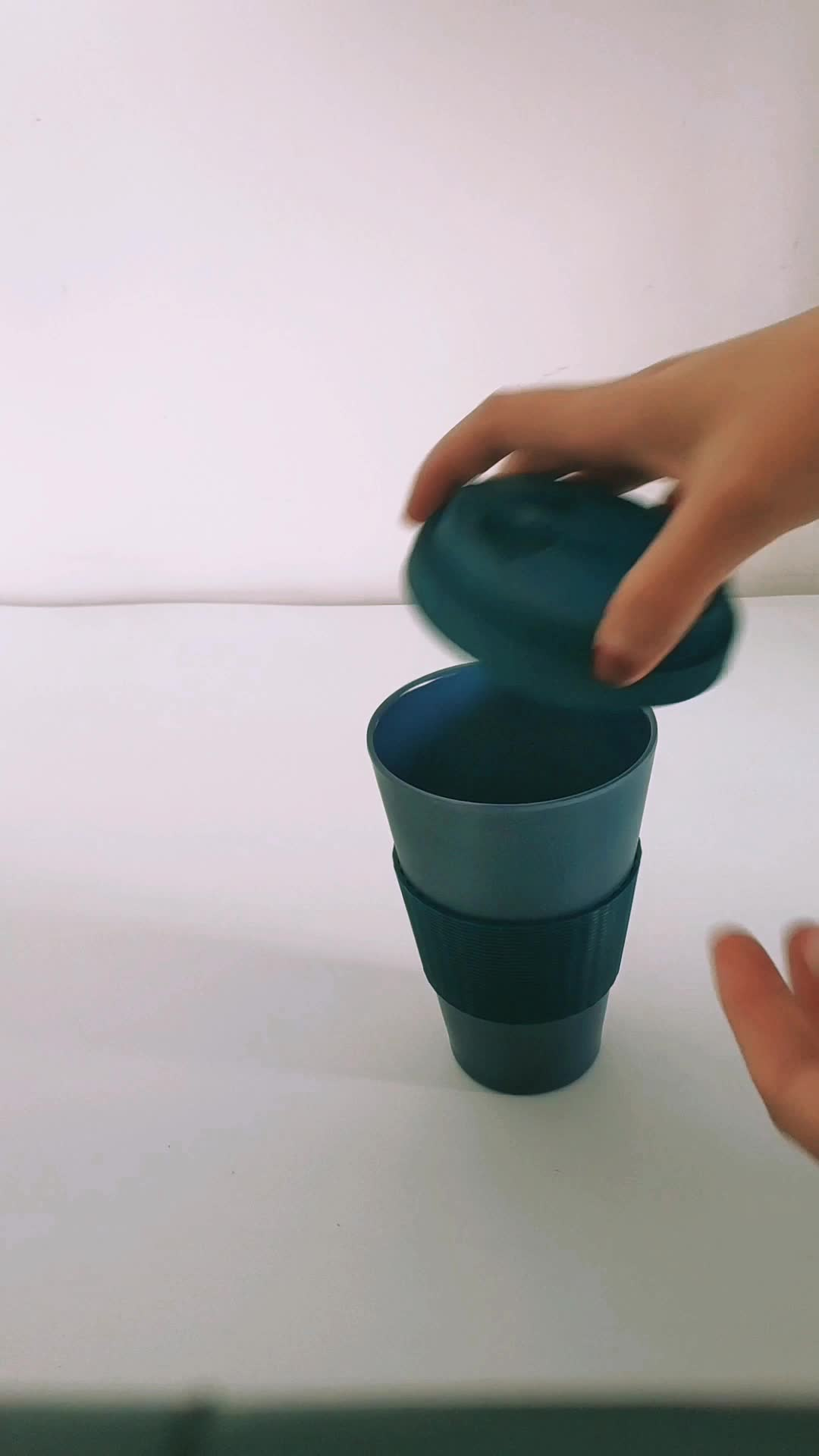 2017 Most popular High quality biodegradable 2 go bamboo cup bamboo fiber cup ECO cup