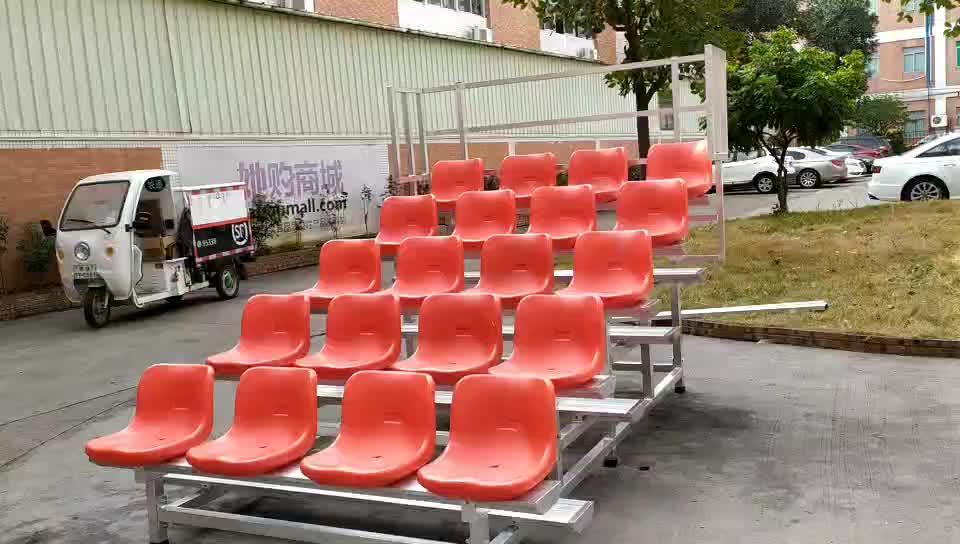 बिक्री के लिए एल्यूमीनियम आउटडोर जिम पुलिंदा bleachers बैठने की प्रणाली का इस्तेमाल किया