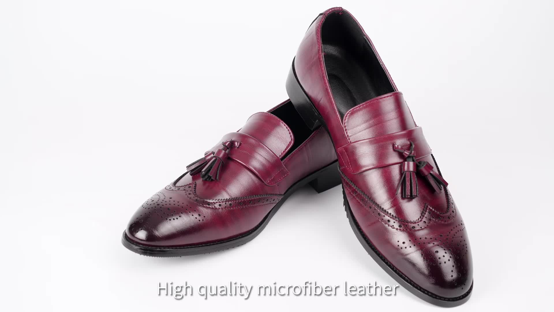 PDEP pu leather big size37-48 men 2019 tassel male slip on office oxford casual formal  loafers business men dress shoes