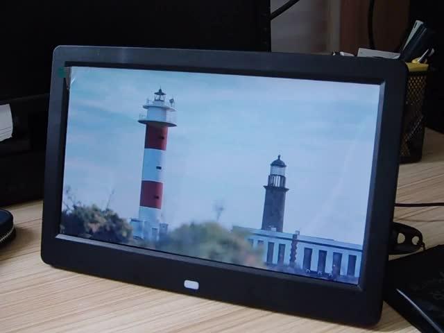 Display LCD New IPS Screen10.1 polegadas Digital Photo Frame com luz de Fundo LED como Presente de Natal