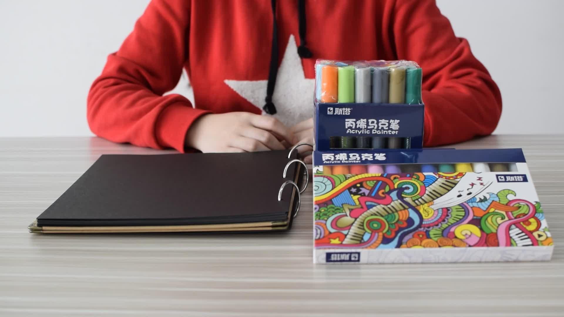 12 color pintura a base de agua pluma graffiti piedra cerámica marcador pluma respetuosos con el medio ambiente de mal gusto acrílico color marcador