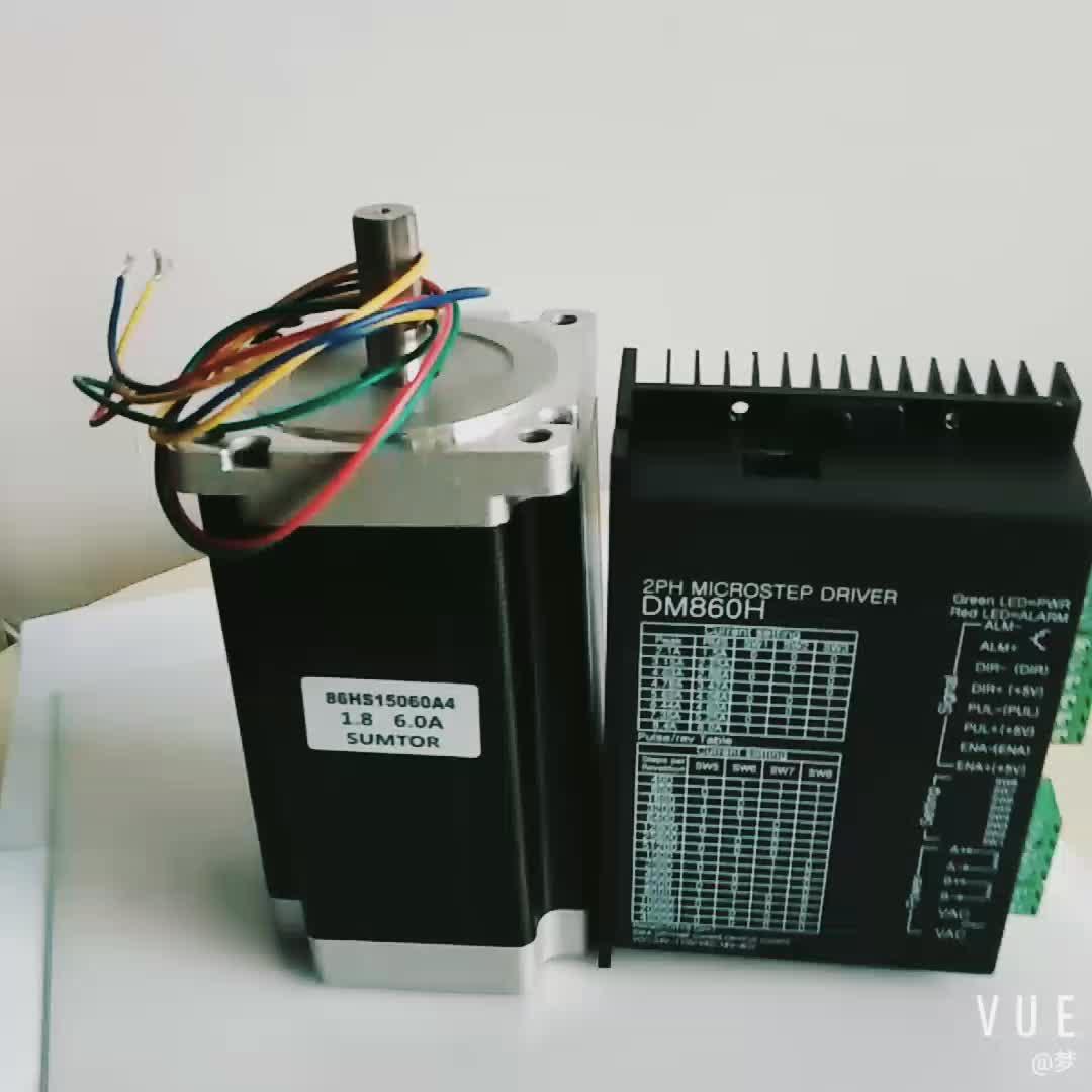 nema 34 150mm stepper motor and 8A driver DM860H cnc step motor kit