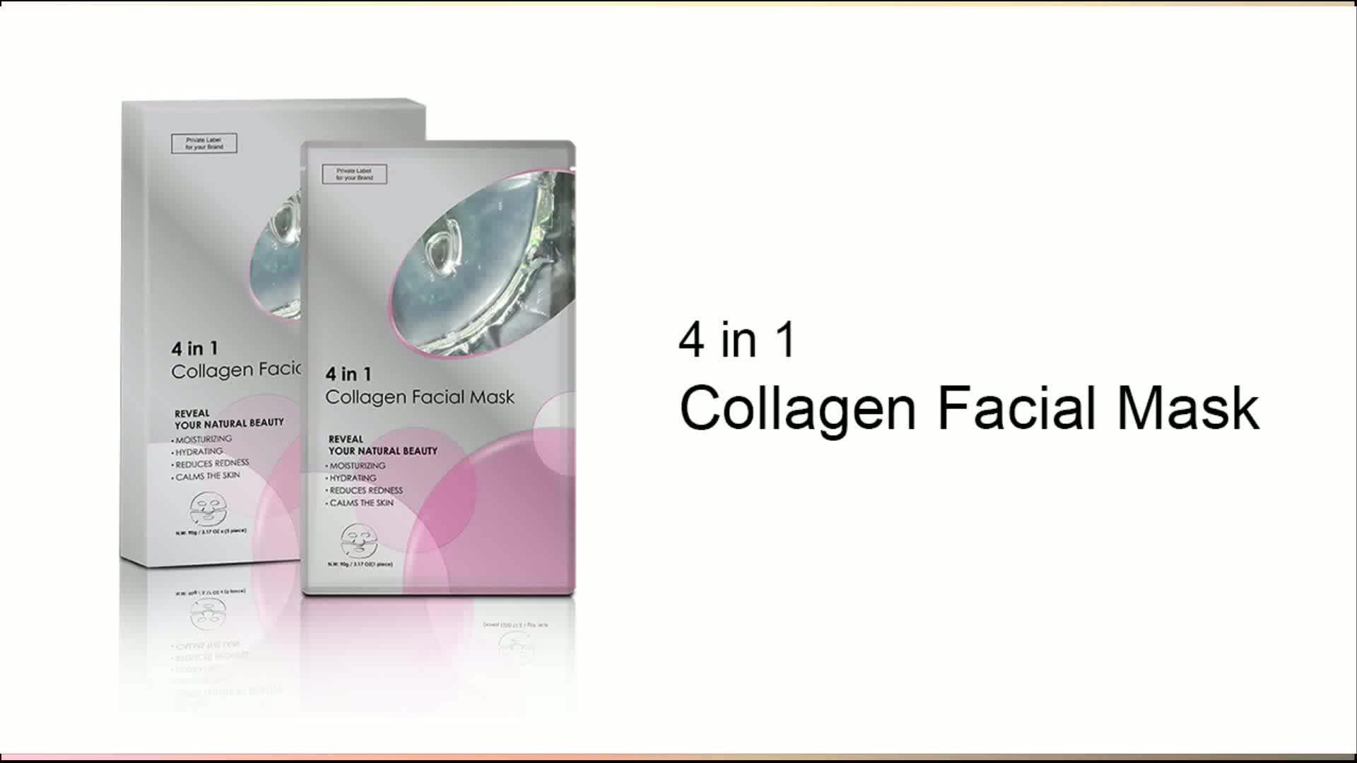 Nuovo Della Corea di Cristallo Idratante Viso Foglio Idrogel Collagene Maschera Per il Viso