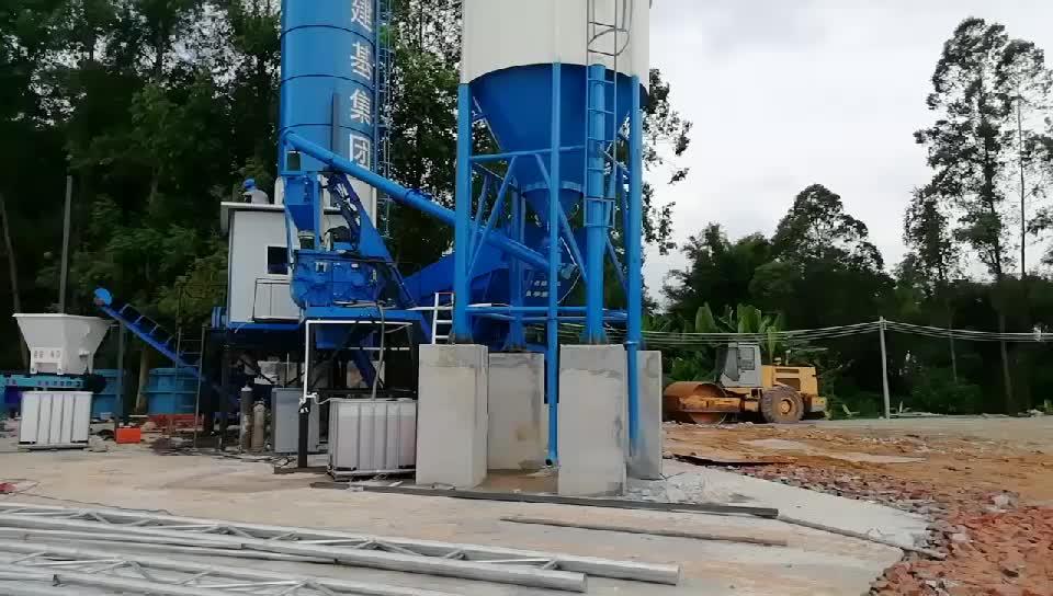 25m3/h ready mix planta de mezcla de hormigón para la venta el hormigón estación de mezcla está equipado con JS500 mezclador de concreto