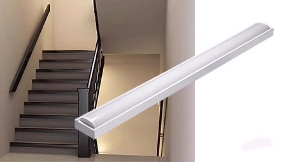 5 years warranty Corridor hallway stairwell linkable motion sensor emergency battery backup led batten light