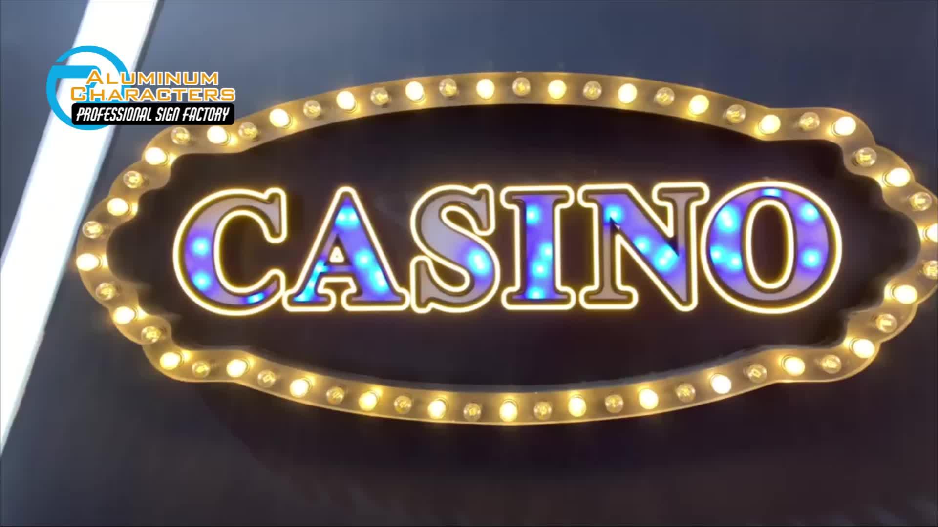 Custom made fashion design led beleuchtete casino metall festzelt zeichen buchstaben