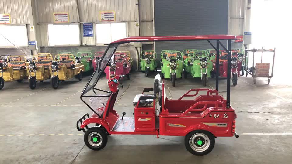 Carrito de golf de diseño elegante con 2 asientos tipo abierto con techo 60V 4 ruedas vehículo eléctrico clásico hecho en china