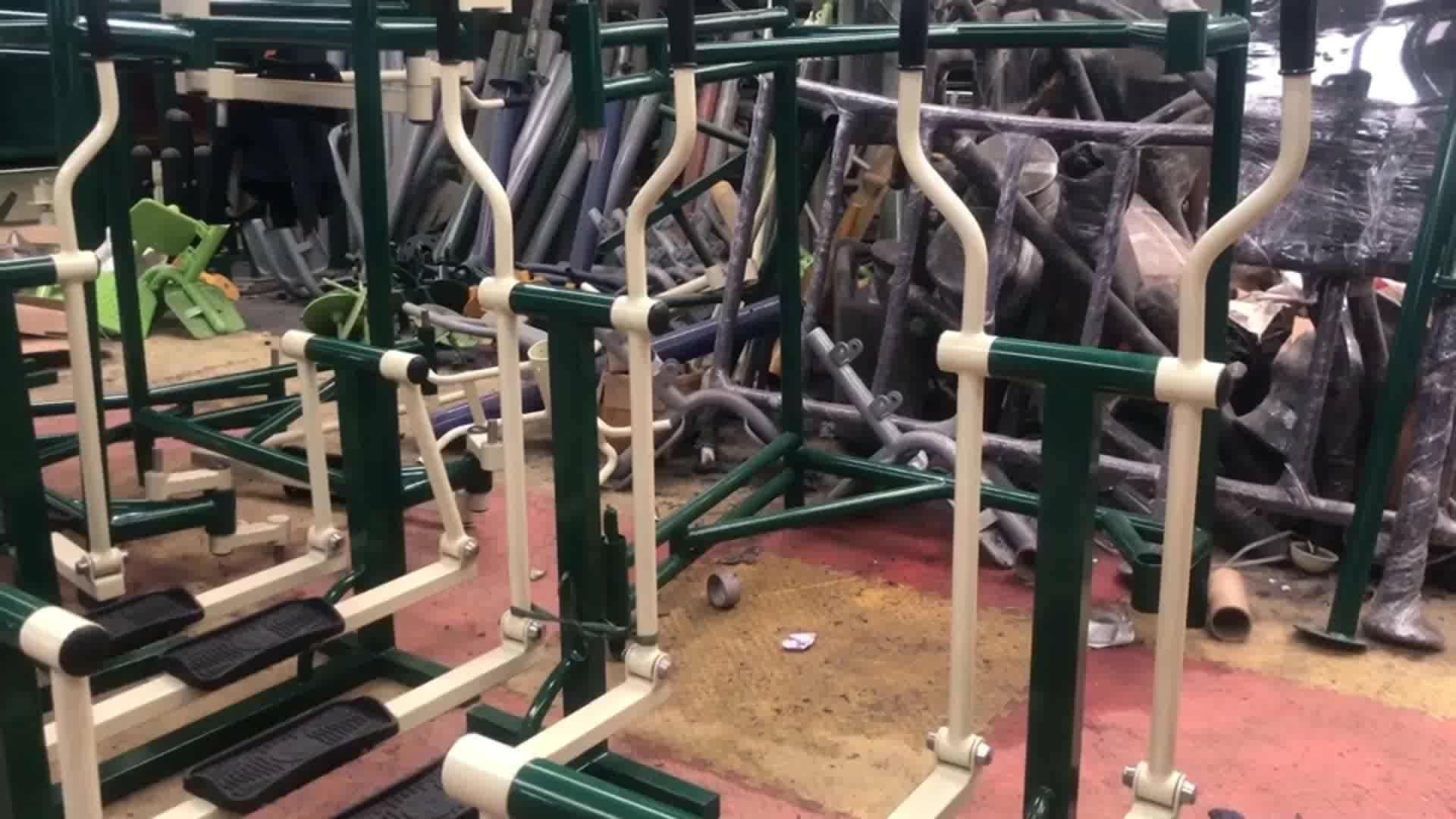 Parken Mensen Revalidatie Push-Pull Training Uitgeschakeld Outdoor Fitness Apparatuur voor Gehandicapten Mensen